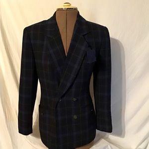 Petite Sophisticate Black plaid blazer jacket 4